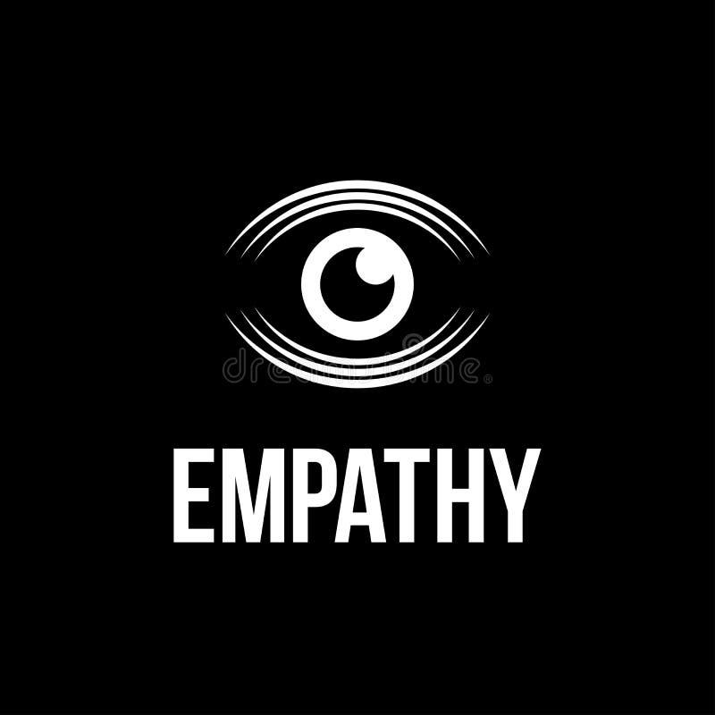 Сопереживание глаза логотипа современного вектора профессиональное на черной предпосылке иллюстрация штока