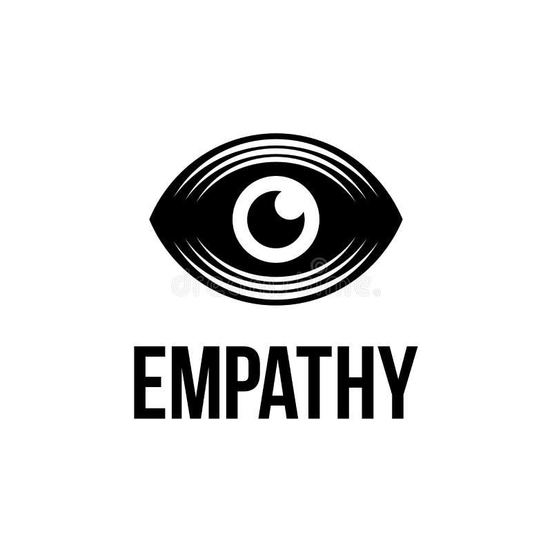 Сопереживание глаза логотипа современного вектора профессиональное на белой предпосылке иллюстрация штока