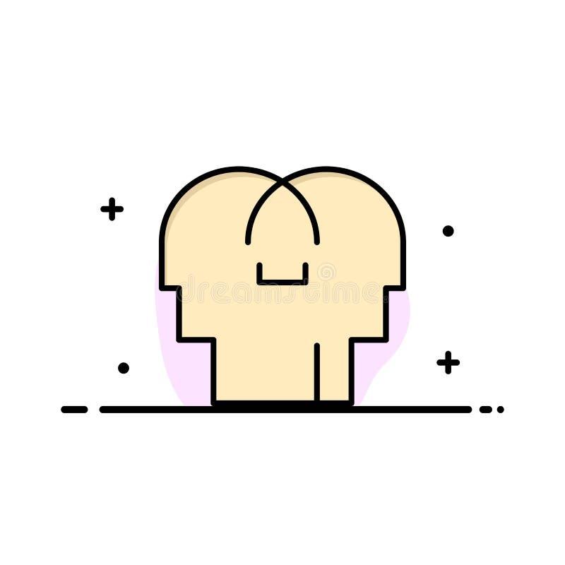 Сопереживание, чувства, разум, главный шаблон логотипа дела r бесплатная иллюстрация