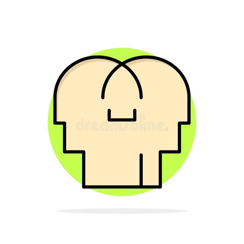 Сопереживание, чувства, разум, значок цвета главной абстрактной предпосылки круга плоский бесплатная иллюстрация