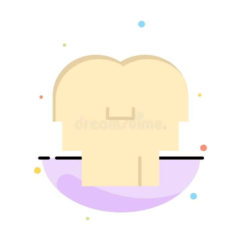 Сопереживание, чувства, разум, шаблон значка цвета конспекта головы плоский иллюстрация штока