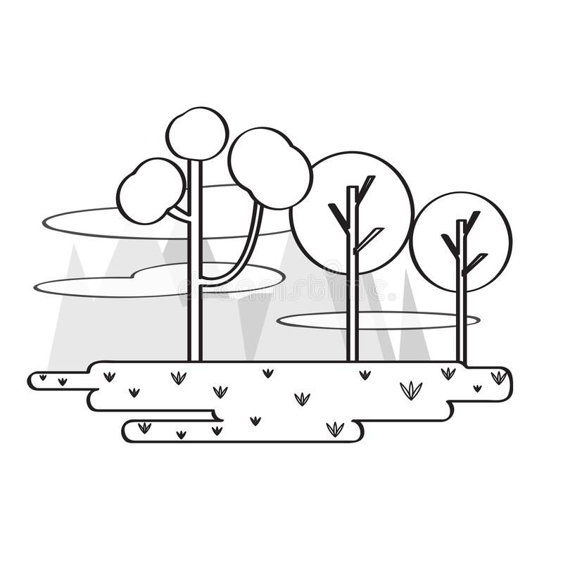 Соперничайте wof общественный парк с деревьями иллюстрация вектора