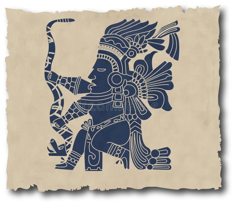соплеменное inca майяское иллюстрация штока
