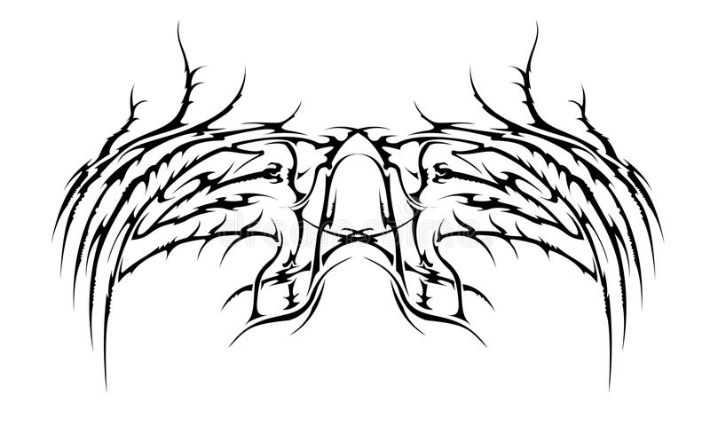 соплеменные крыла иллюстрация вектора