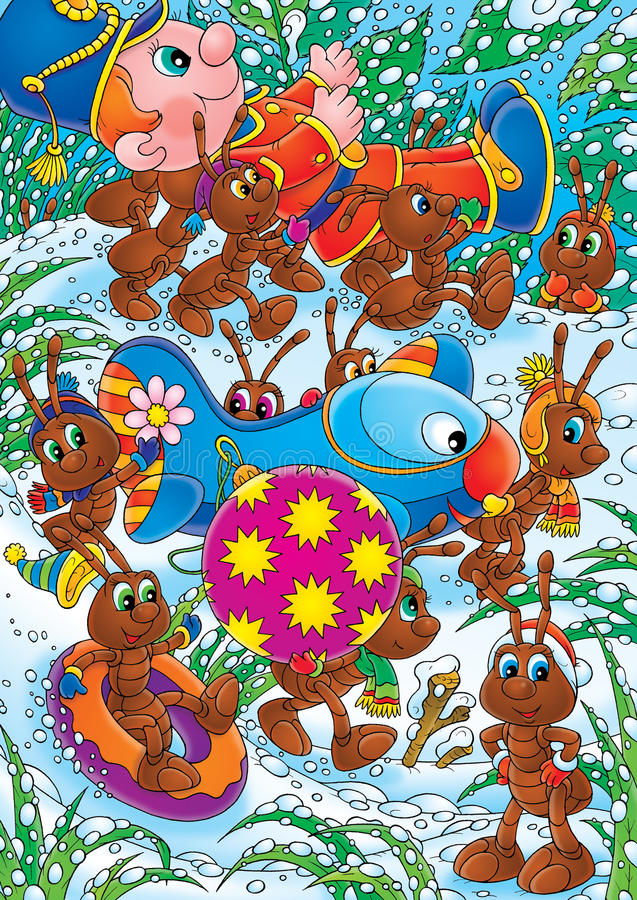 сопротивление украшений рождества муравеев бесплатная иллюстрация