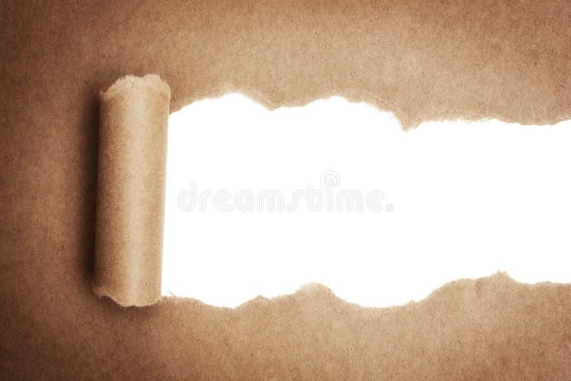 Сорванная бумага пакета стоковые изображения rf