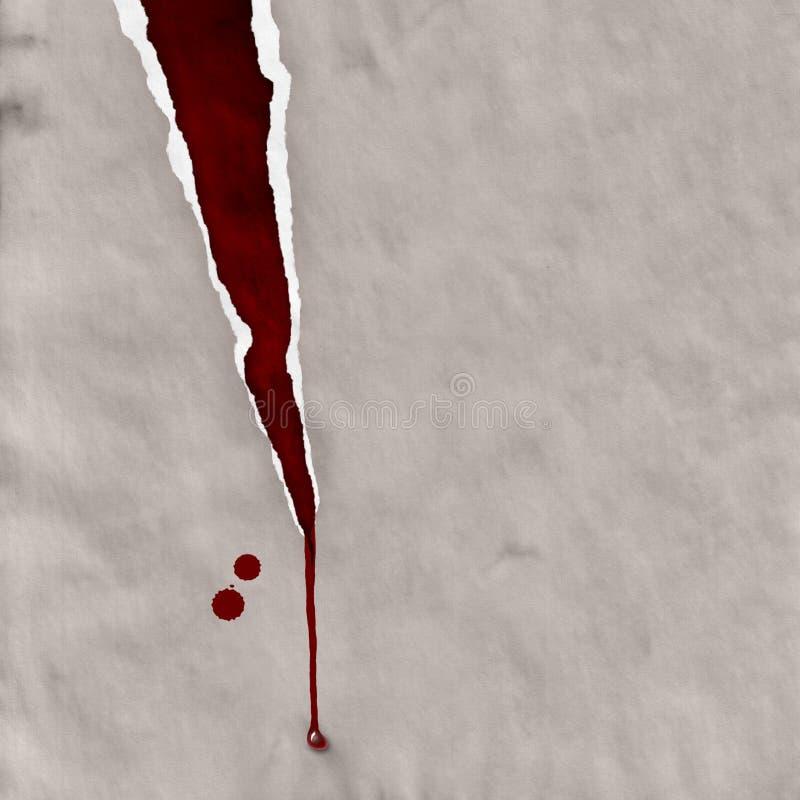 Сорванная бумага с кровью бесплатная иллюстрация