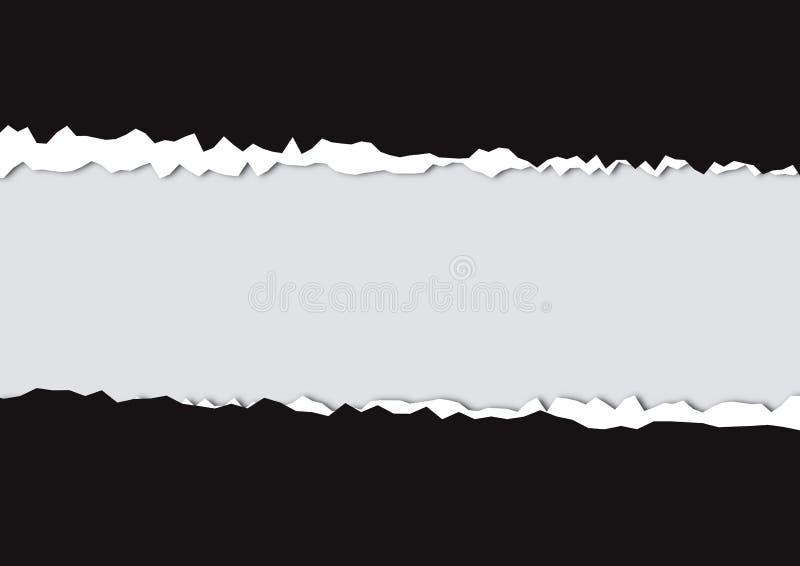 сорванная бумага иллюстрация штока