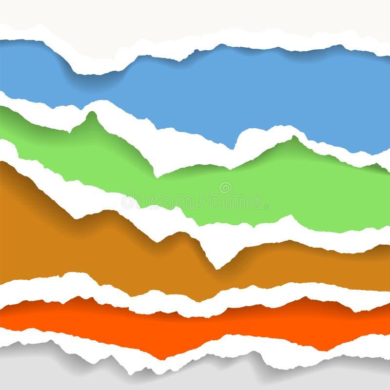 Сорванная бумажная предпосылка с космосом для текста Конструируйте вектор шаблона иллюстрации для знамени интернет-страницы, лент иллюстрация штока