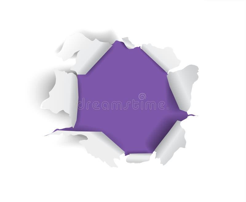 Сорванная бумажная часть иллюстрация вектора