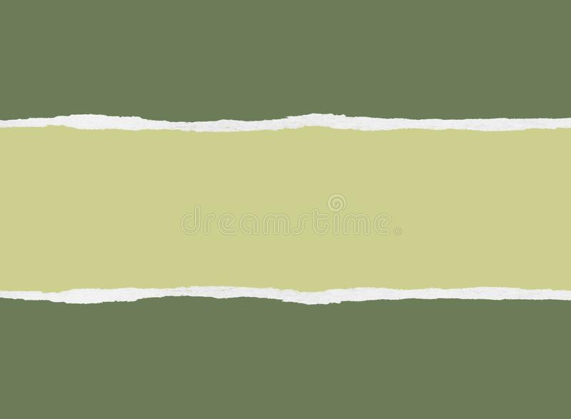 Сорванная зеленая упаковочная бумага иллюстрация вектора
