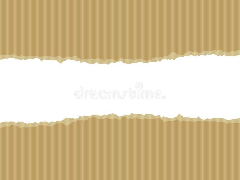 сорванная иллюстрация картона иллюстрация вектора