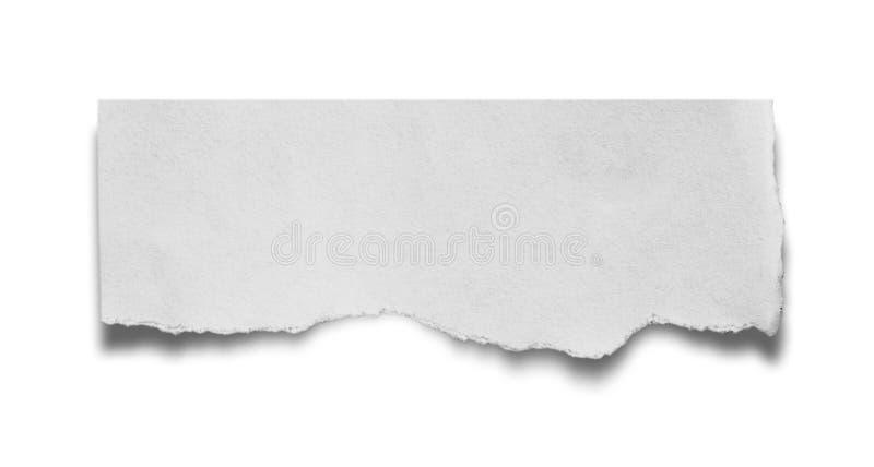 Сорванная и сорванная бумага стоковое изображение