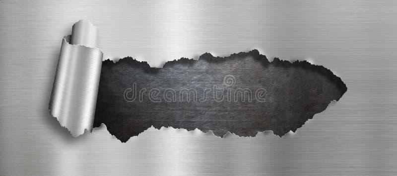 Сорванная предпосылка отверстия металла стоковое фото rf