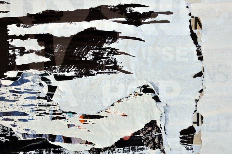 Сорванная предпосылка плакатов grungy бумажная стоковые изображения