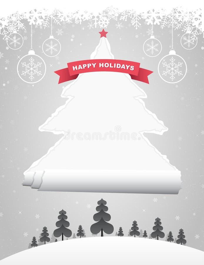 Сорванная рождественская елка бесплатная иллюстрация