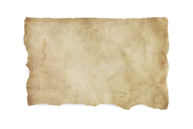 Сорванная старая запятнанная бумага с путем клиппирования стоковые изображения rf