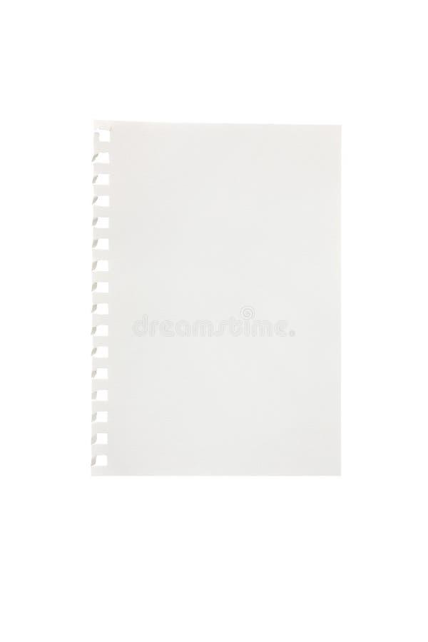 сорванная часть тетради бумажная стоковые изображения rf