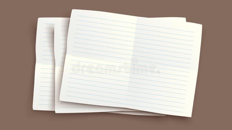 Сорванное изображение бумаги иллюстрация штока