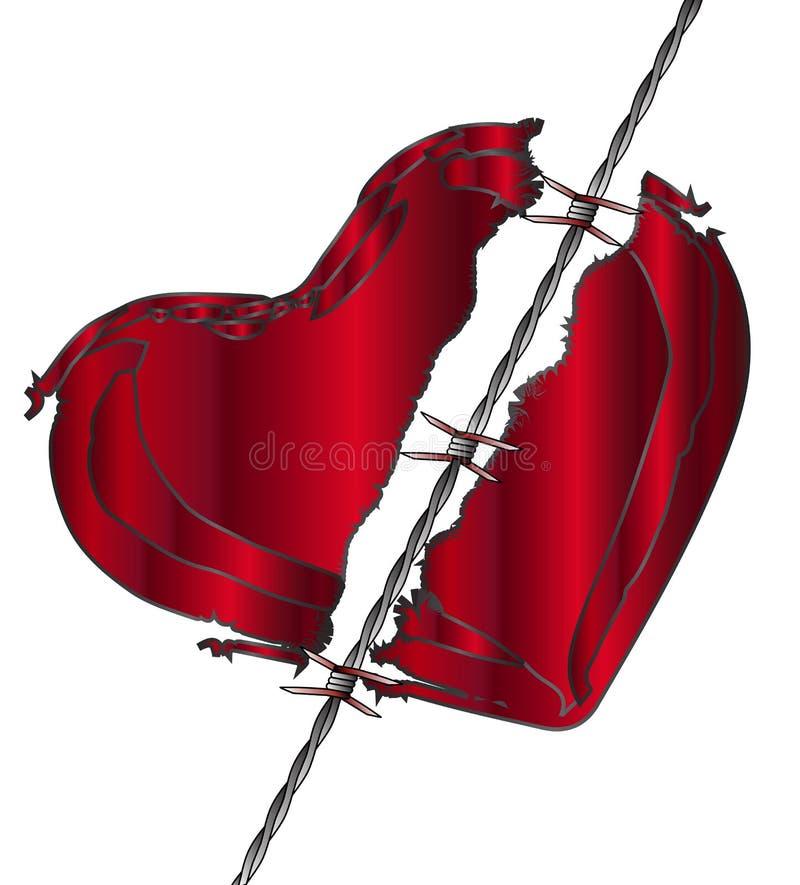 Сорванное сердце влюбленности иллюстрация вектора