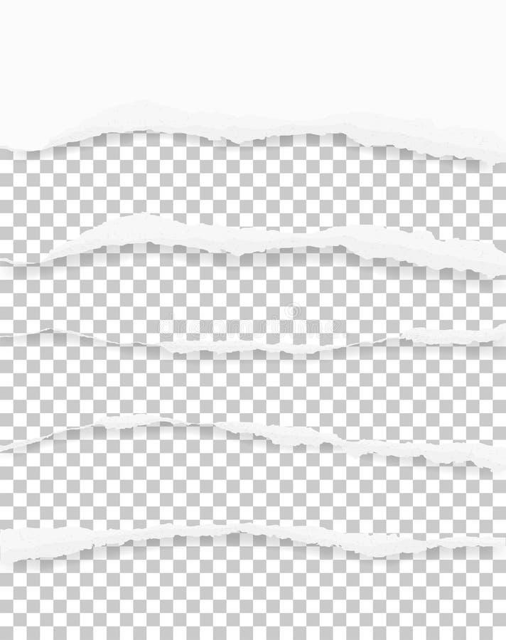 Сорванные бумажные края для предпосылки с зоной для космоса экземпляра сорвано иллюстрация штока