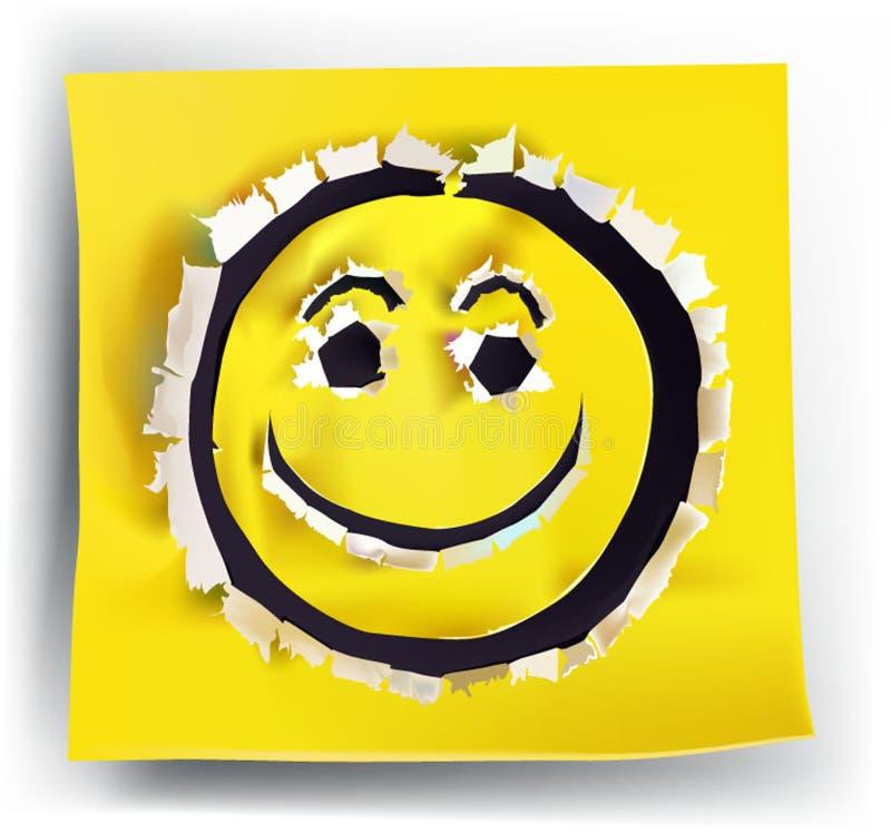Сорванные бумажные улыбки желтого цвета собрания бесплатная иллюстрация