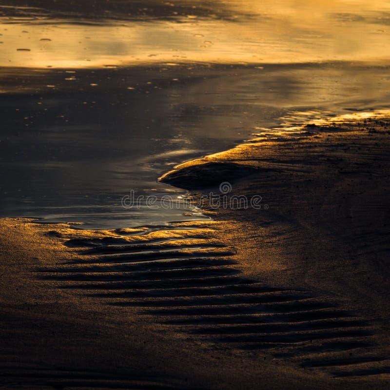 Сорванные пляжи песка стоковая фотография rf