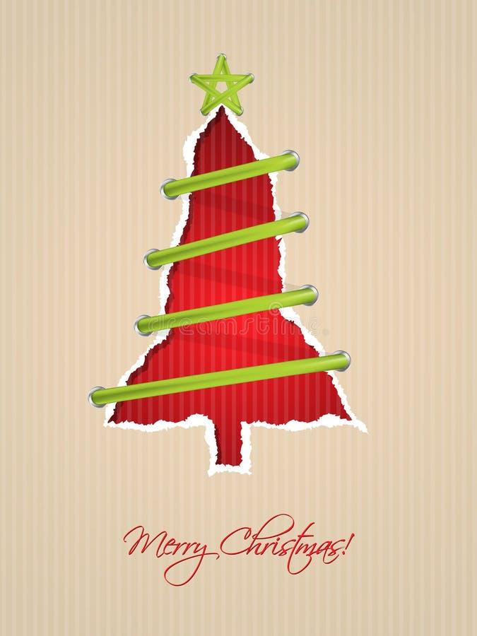 Сорванный бумажный дизайн рождественской открытки бесплатная иллюстрация