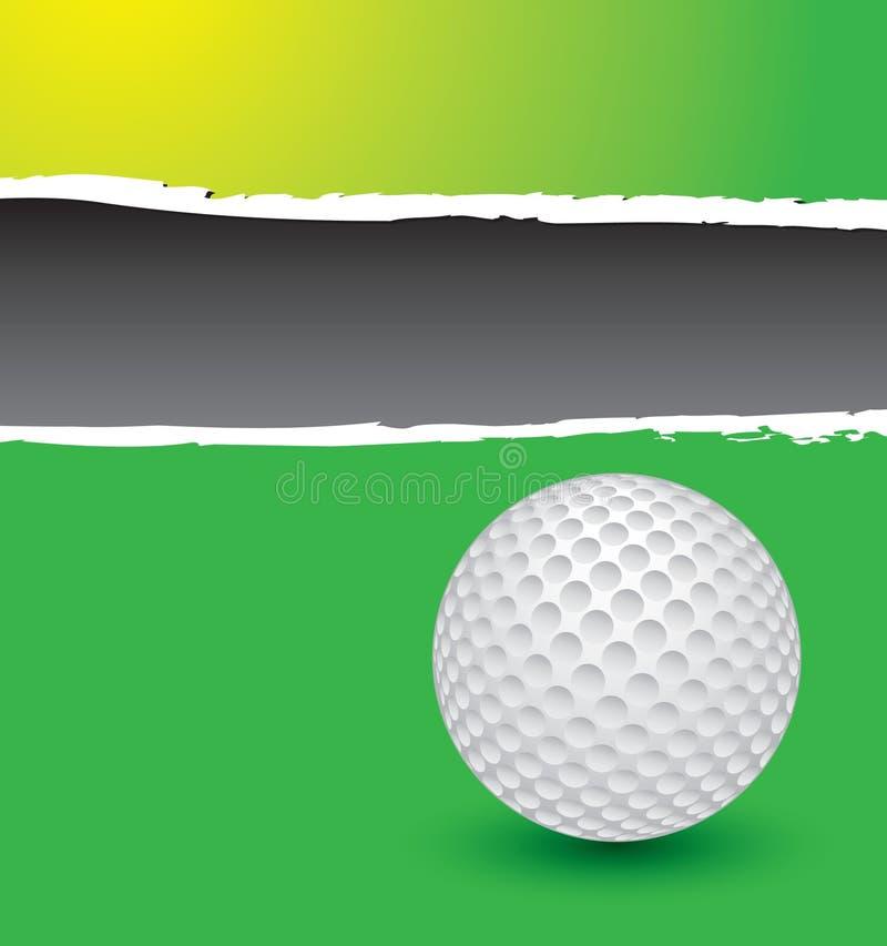 сорванный зеленый цвет гольфа шарика рекламы бесплатная иллюстрация