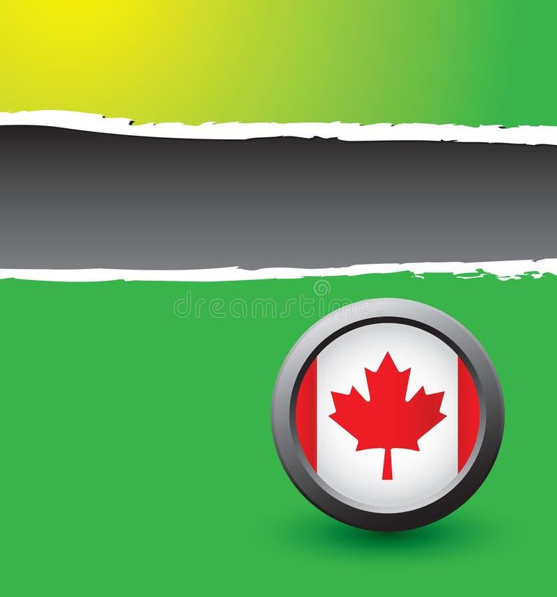 сорванный зеленый цвет флага знамени канадский иллюстрация вектора