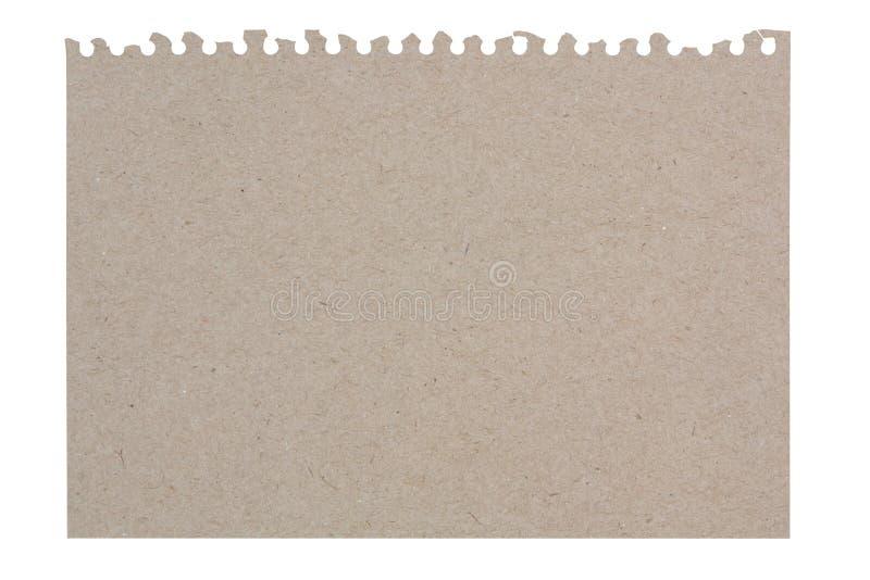 Сорванный лист бумаги от рециркулированной бумаги стоковая фотография