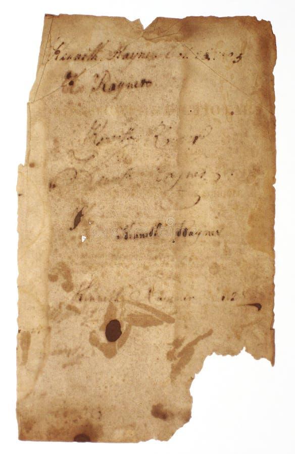 сорванный пергамент стоковое изображение
