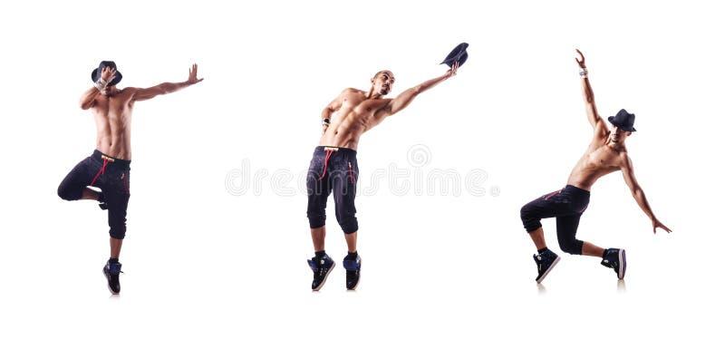 Сорванный танцор изолированный на белизне стоковое изображение rf