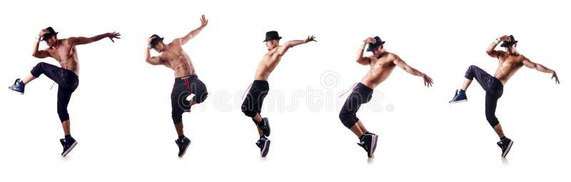 Сорванный танцор изолированный на белизне стоковая фотография rf