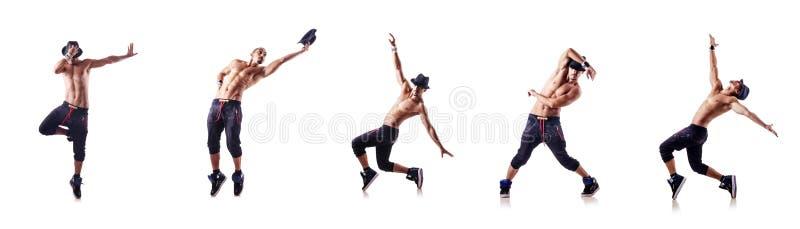 Сорванный танцор изолированный на белизне стоковая фотография