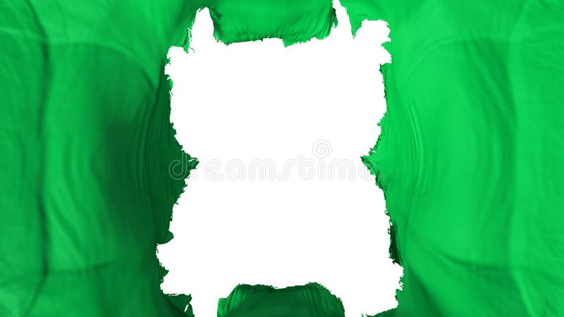 Сорванный флаг летания зеленого цвета иллюстрация штока