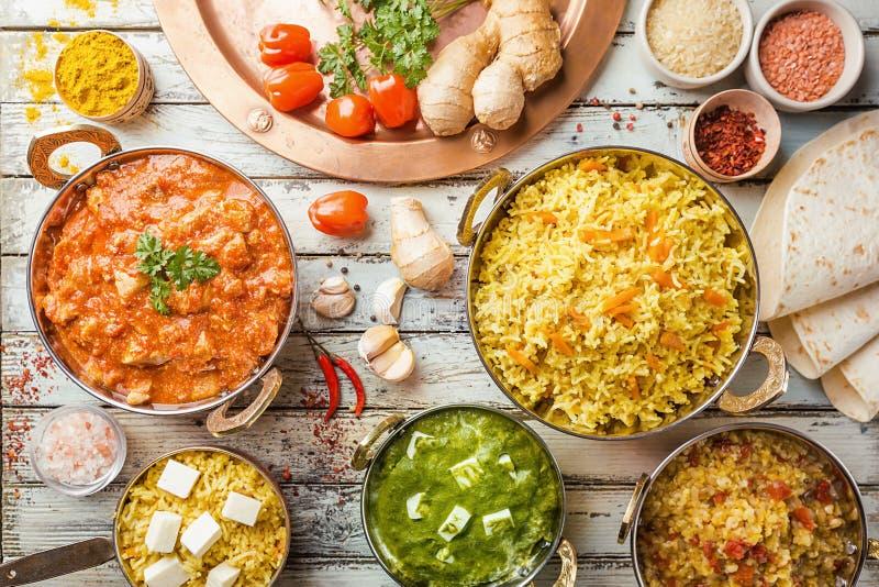 Сортированная индийская еда стоковые изображения rf