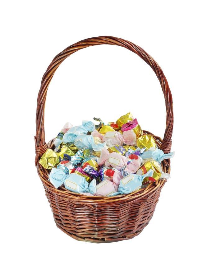 сортированные шоколады корзины стоковое фото