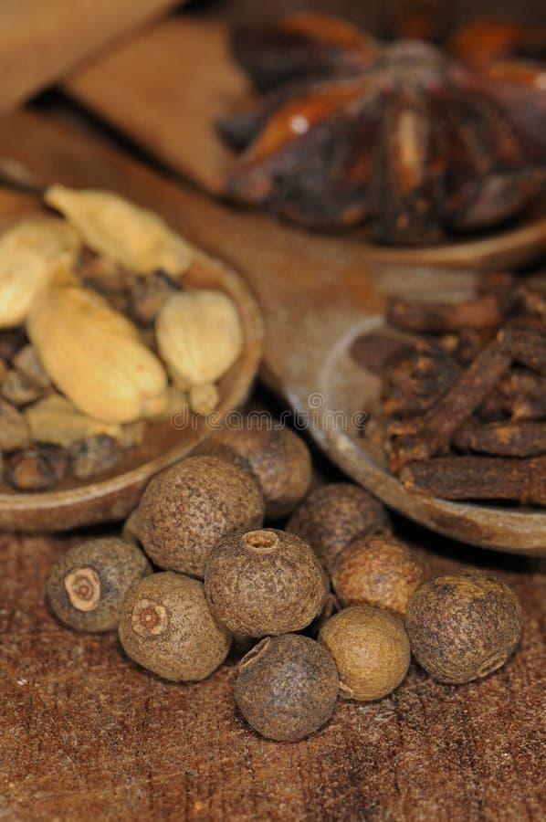 сортированные condiments предпосылки стоковые изображения rf