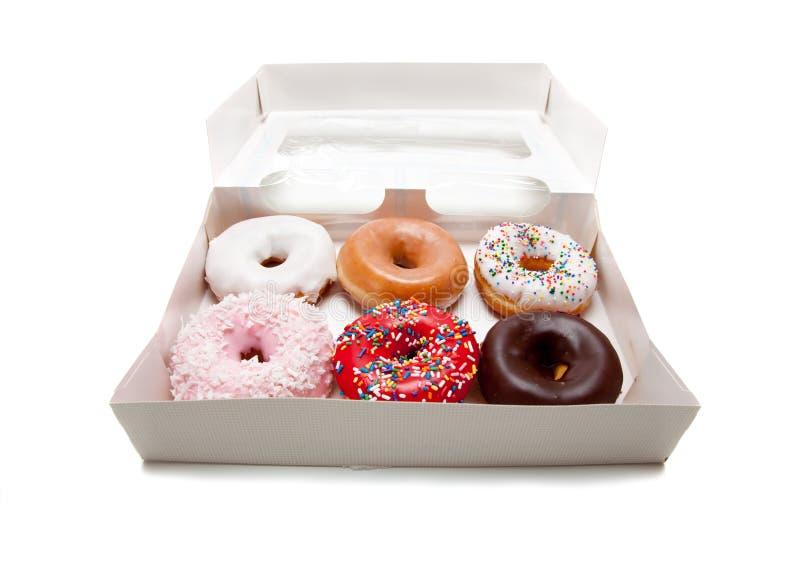 сортированные donuts белые стоковое фото