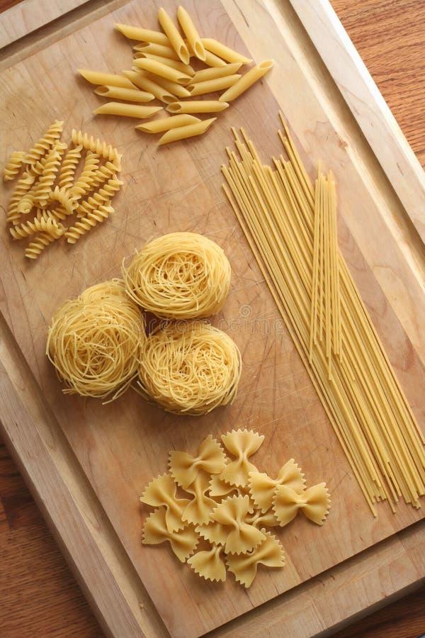 сортированные Pastas Стоковое Фото