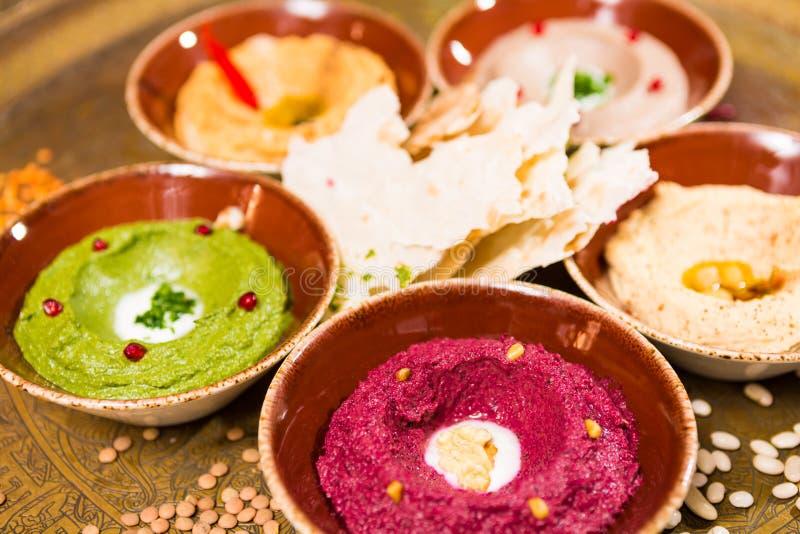 Сортированный восточной еды, mezze стоковое изображение rf