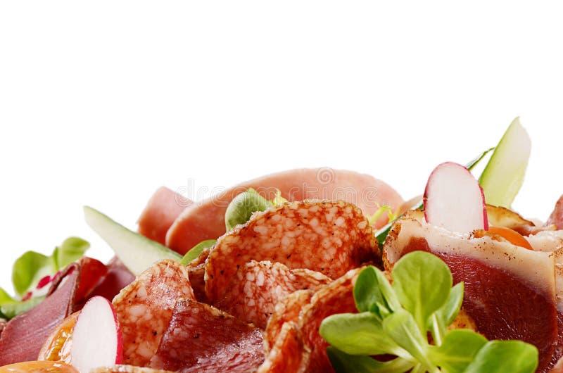 Сортированный итальянский конец-вверх сосисок как предпосылка стоковая фотография