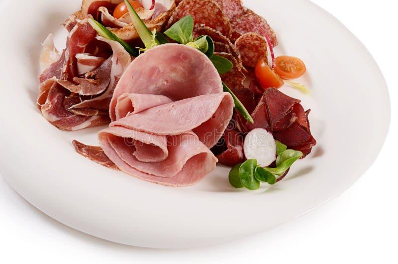 Сортированный итальянский конец-вверх сосисок как предпосылка стоковые изображения rf