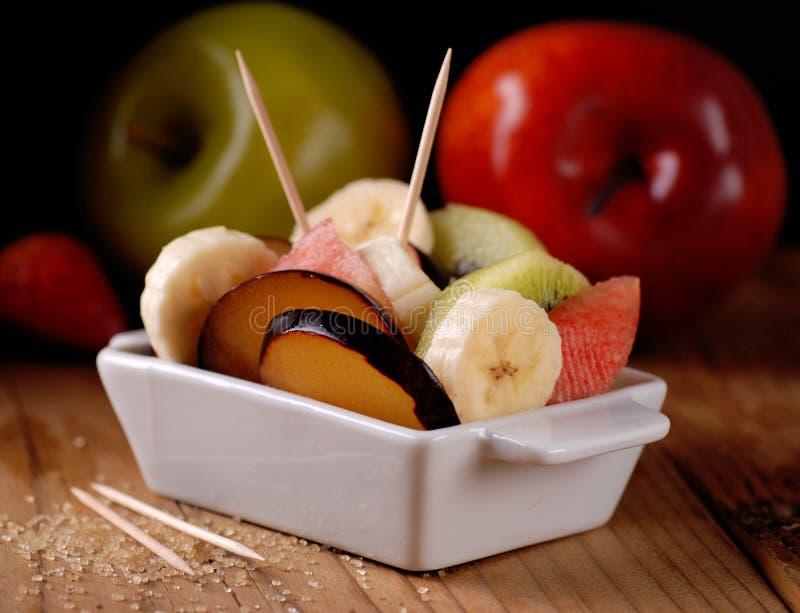 Сортированный фруктовый салат стоковое изображение rf