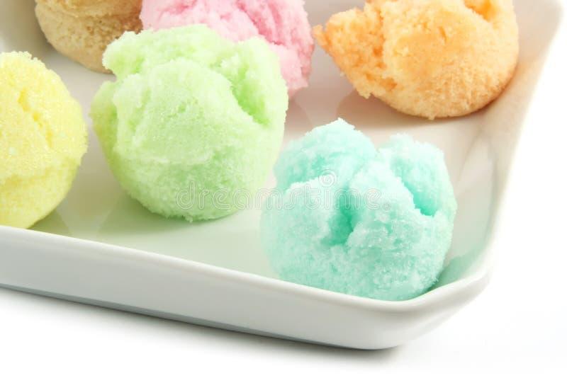 сортированный cream льдед флейворов стоковое изображение