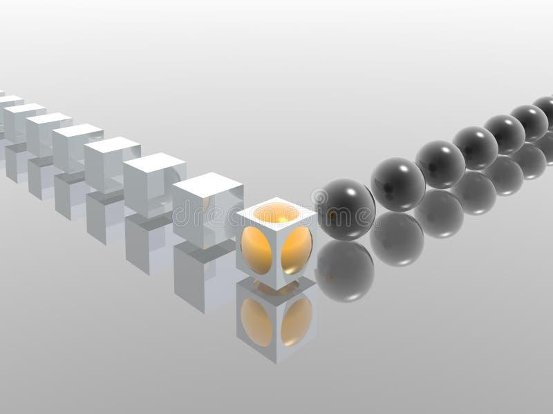 сортучивание иллюстрация вектора