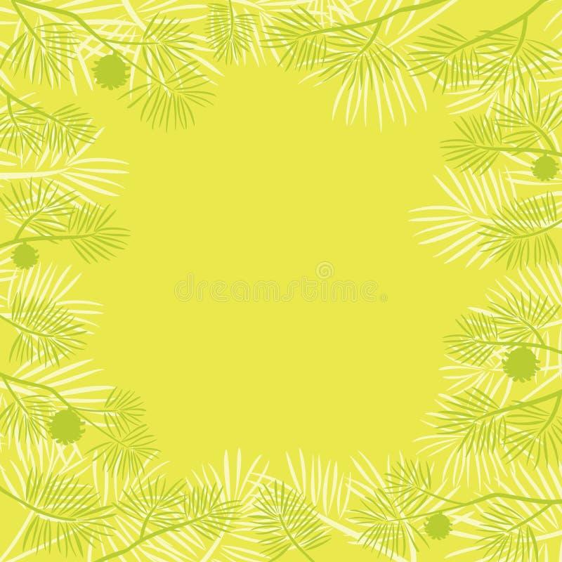 сосенка ветви предпосылки иллюстрация штока