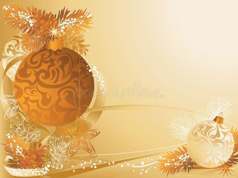 сосенка конусов рождества карточки иллюстрация штока