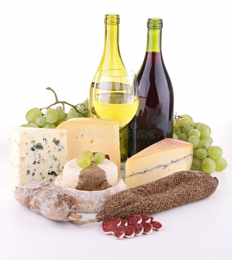 сосиска изолированная сыром стоковая фотография rf